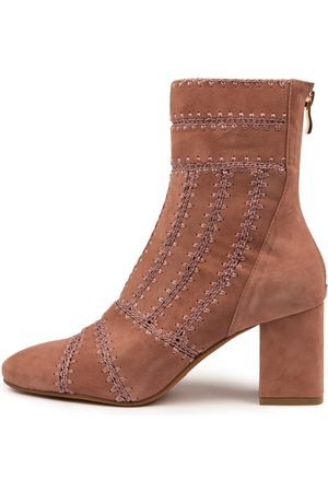 Mollini Women Ankle Boots - Shuffle Blush Boots Womens Shoes Dress Ankle Boots