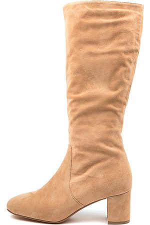 Diana Ferrari Women Knee High Boots - Ililo Df Camel Boots Womens Shoes Casual Long Boots