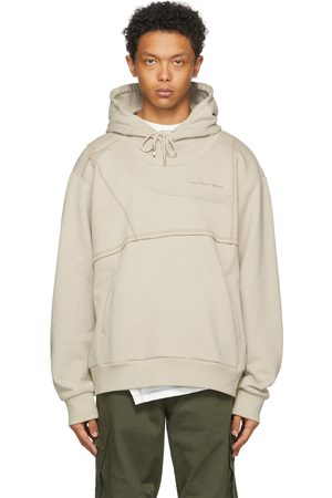Feng Chen Wang Men Hoodies - SSENSE Exclusive French Terry Paneled Hoodie