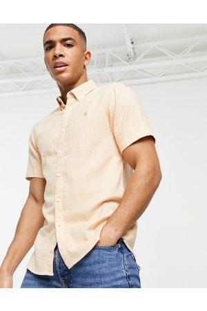Farah Short sleeves - Kreo slim fit short sleeve shirt-Orange