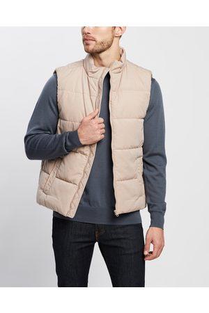3 Wise Men Men Gilets - The Gosling Puffer Vest - Coats & Jackets (Tan) The Gosling Puffer Vest