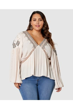 The Poetic Gypsy Starlight Embroidered Blouse - Tops Starlight Embroidered Blouse