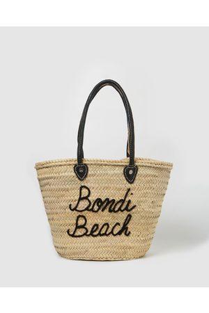 Miz Casa and Co Women Tote Bags - Bondi French Basket Bag - Beach Bags (Natural) Bondi French Basket Bag