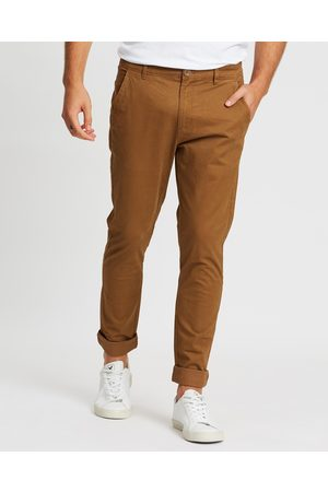 Staple Superior Men Chinos - Staple Slim Stretch Chino Pants - Pants (Coffee) Staple Slim Stretch Chino Pants