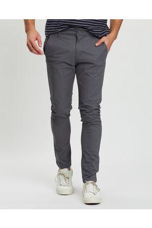 Staple Superior Men Chinos - Staple Slim Stretch Chino Pants - Pants (Iron) Staple Slim Stretch Chino Pants