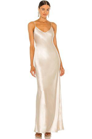 L'Agence Serita Maxi Bias Dress in .
