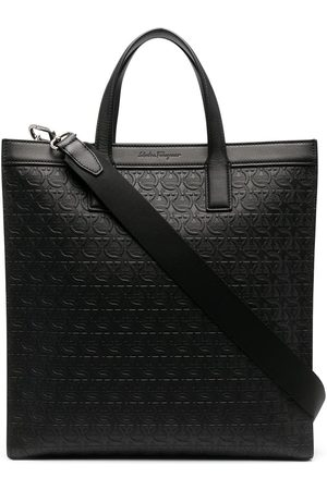 Salvatore Ferragamo Men Tote Bags - Logo-embossed tote bag