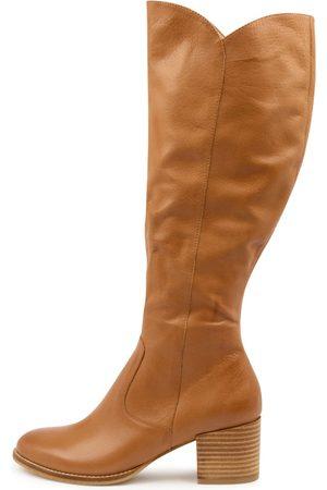 Django & Juliette Women Knee High Boots - Meryl Dj Dk Tan Boots Womens Shoes Casual Long Boots