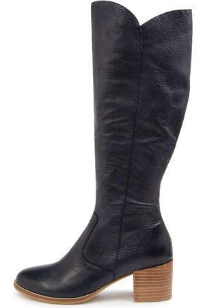 Django & Juliette Meryl Dj Navy Boots Womens Shoes Casual Long Boots
