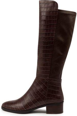 Django & Juliette Tetley Choc Boots Womens Shoes Casual Long Boots