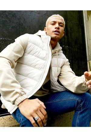 ASOS Puffer vest in ecru-White