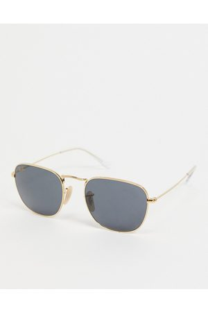 Ray-Ban Unisex square sunglasses in gold
