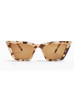 Topshop Tortoiseshell cateye sunglasses in brown