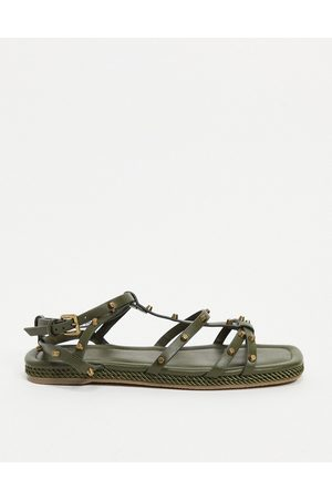 ASOS Jools studded rope espadrilles in green