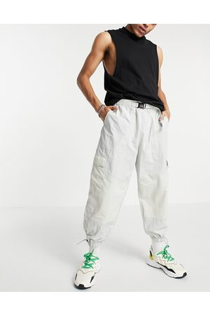ASOS Oversized tapered trackies in colour blocking-Grey