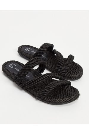 South Beach Rope slides in black