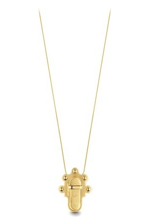 LOUIS VUITTON Trunk Lock Pendant Necklace and Brooch