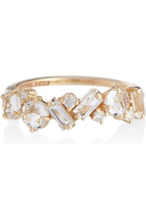 Suzanne Kalan Women Rings - Amalfi 14kt ring with diamonds and topaz