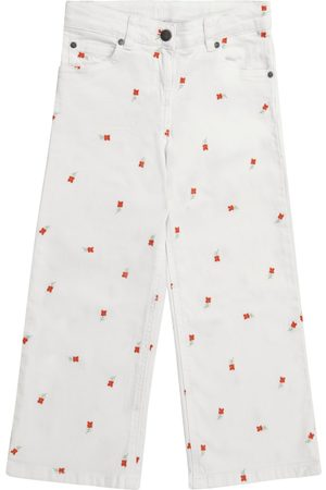 Stella McCartney Girls Jeans - Embroidered floral jeans