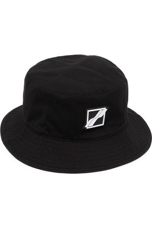 We11 Done Hats - Square-logo bucket hat