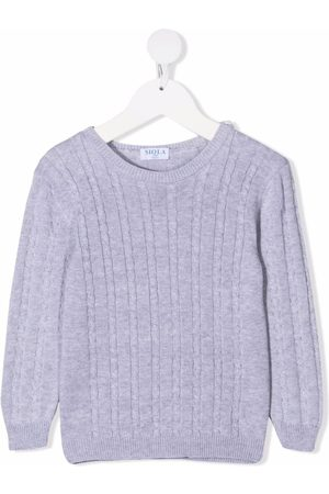 Siola Cable-knit cotton jumper