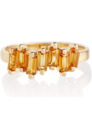 Suzanne Kalan 14kt gold ring with citrine quartz