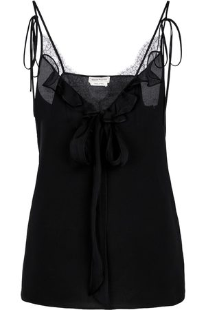 Alexander McQueen Lace-trimmed camisole