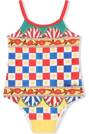 Dolce & Gabbana Kids Baby Swimsuits - Geometric-print swimsuit