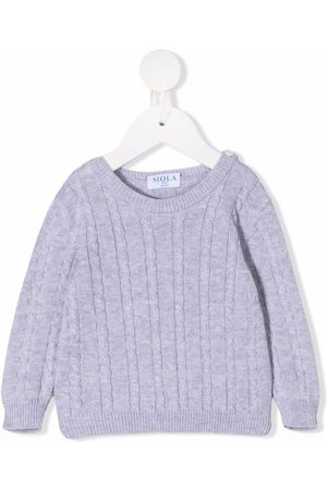 SIOLA Sweaters - Cable-knit cotton jumper