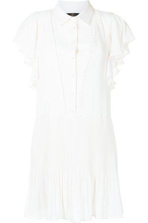 Twin-Set Frilled-sleeves shirt dress