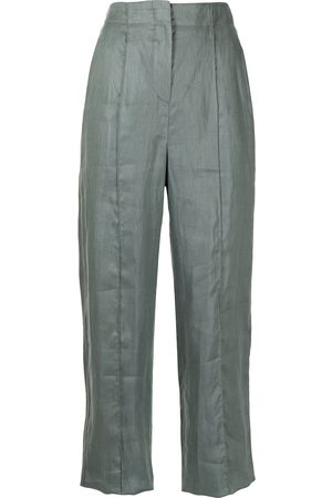 Emporio Armani Women Formal Pants - High-waisted linen trousers