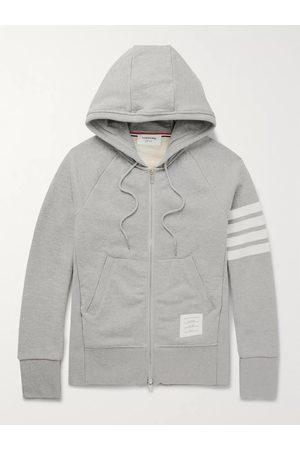 Thom Browne Slim-Fit Striped Loopback Cotton-Jersey Zip-Up Hoodie
