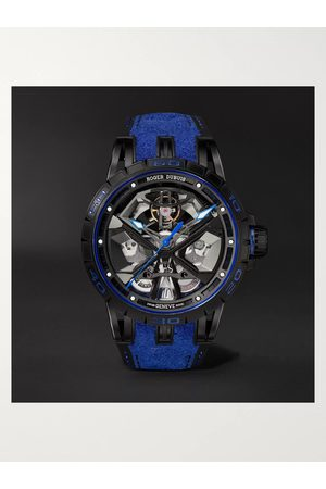 ROGER DUBUIS Men Watches - Excalibur Huracán Automatic Skeleton 45mm Titanium and Rubber Watch, Ref. No. RDDBEX0749