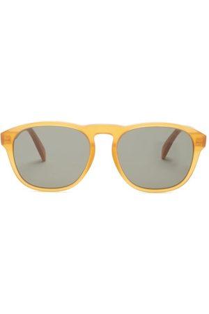 Céline Round Acetate Sunglasses - Mens - Dark