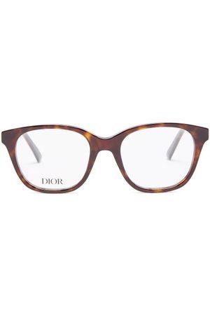 DIOR Women Sunglasses - 30montaigne Square Tortoiseshell-acetate Glasses - Womens - Tortoiseshell