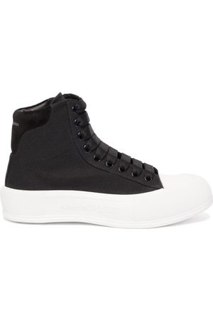 Alexander McQueen Women Sneakers - Panelled High-top Canvas Trainers - Womens