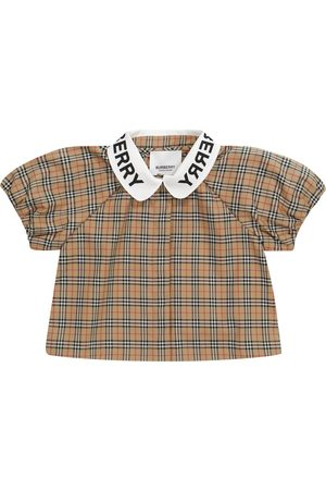 Burberry Baby Blouses - Baby checked stretch-cotton blouse