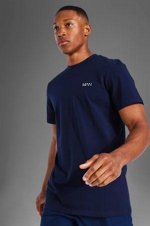 Boohoo Mens Navy Man Active Luxe T Shirt
