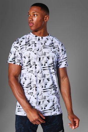 Boohoo Mens Man Active Abstract Print T Shirt