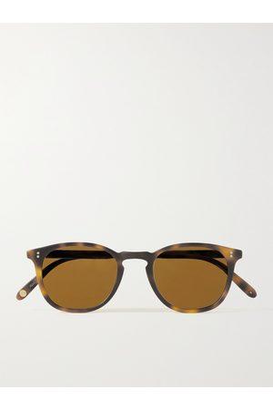 GARRETT LEIGHT CALIFORNIA OPTICAL Men Sunglasses - Kinney 47 Round-Frame Tortoiseshell Matte-Acetate Sunglasses