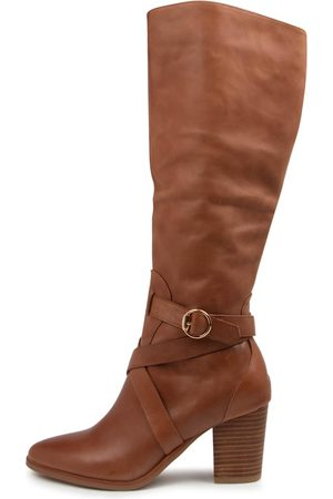 Django & Juliette Tess Dj Cognac Boots Womens Shoes Casual Long Boots