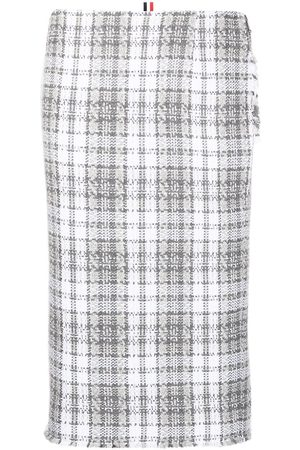 Thom Browne Women Printed Skirts - Tartan-check pencil skirt