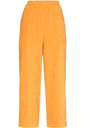 Terry. Capri cropped trousers