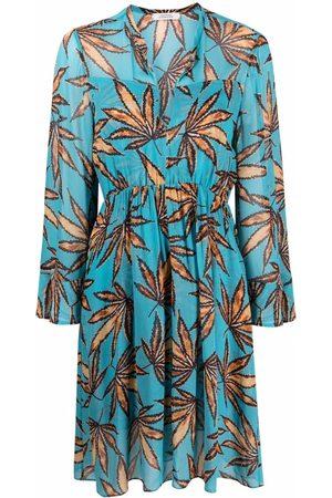 Dorothee Schumacher Women Printed Dresses - Leaf pattern tunic dress