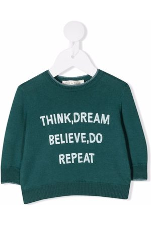 Zhoe & Tobiah Slogan-print cotton jumper
