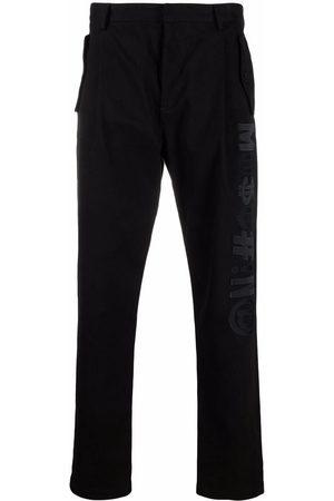 Moschino Men Stretch Pants - Symbols stretch-gabardine baggy trousers