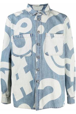 Moschino Graphic-print denim shirt