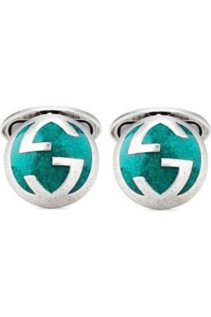 Gucci Men Cufflinks - Interlocking G sterling cufflinks