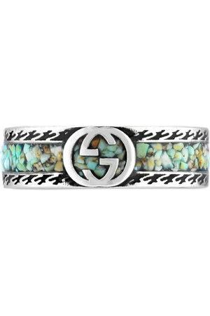Gucci Men Rings - Interlocking G sterling ring