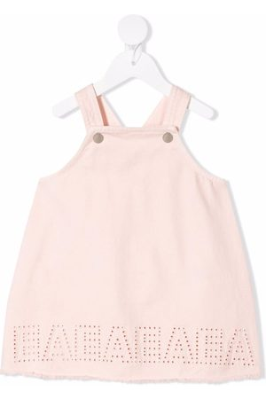 Emporio Armani Baby Casual Dresses - Logo-embroidered dungaree dress
